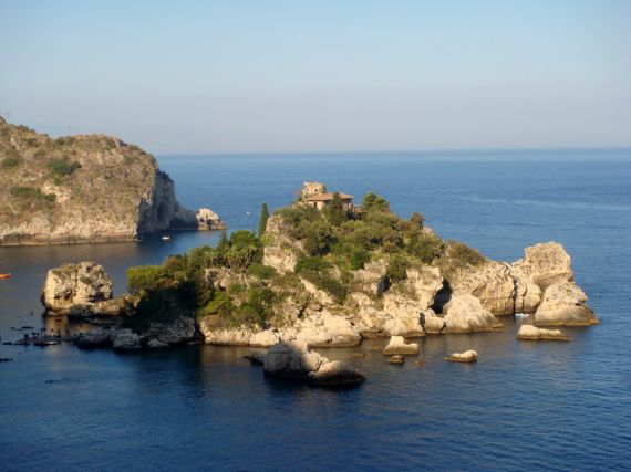 Isola Bella bei Taormina in Sizilien